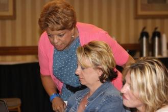 Linda&MichelleWorking
